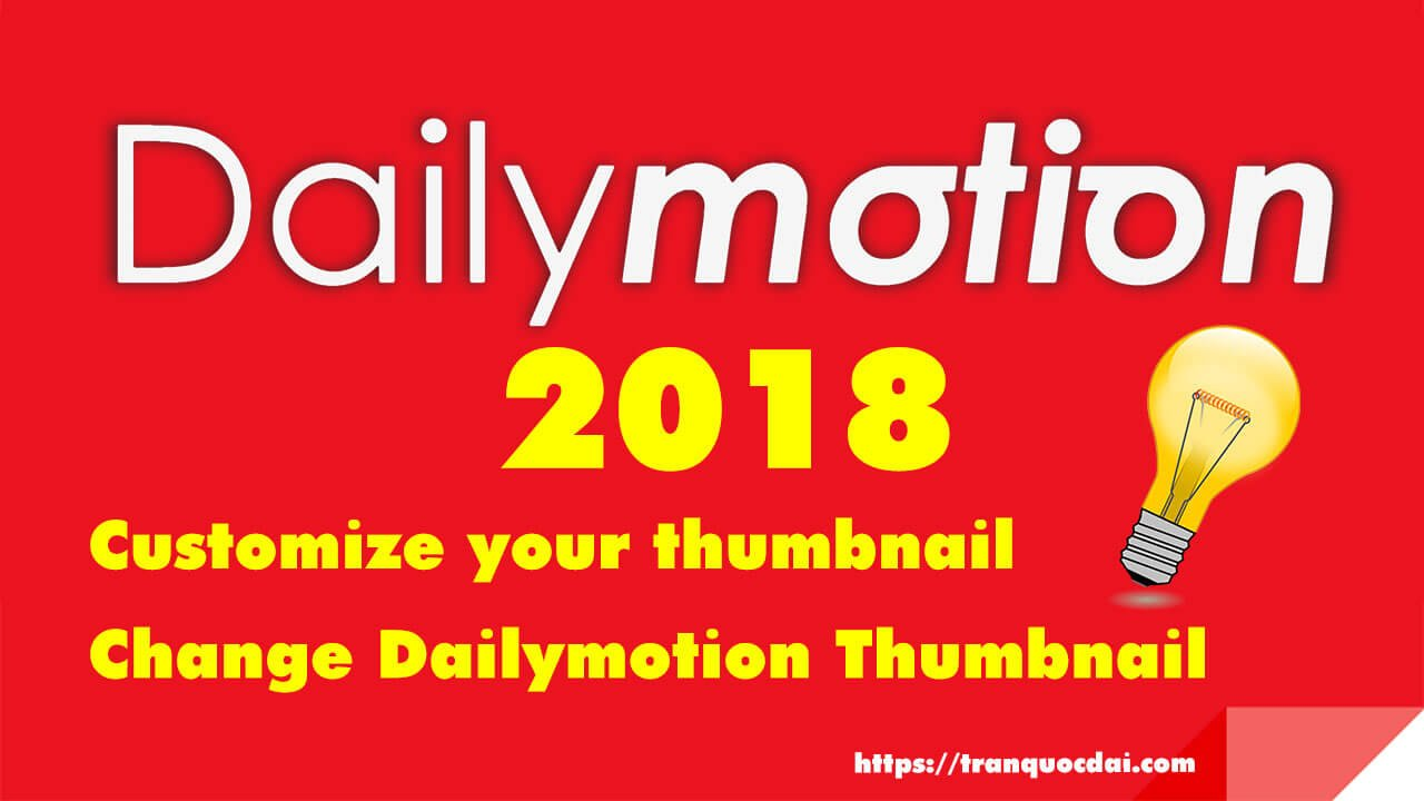 custom Dailymotion thumbnail