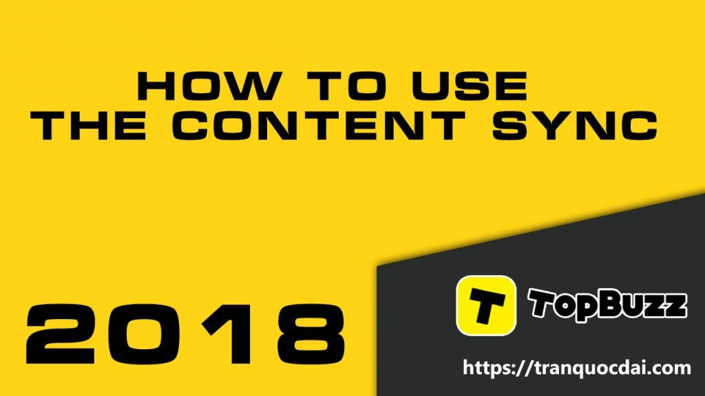 How to use the Content Sync