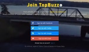 topbuzz signup