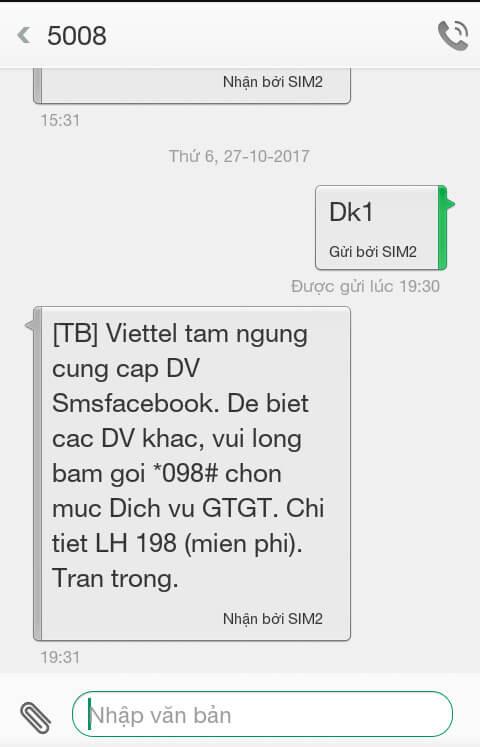 facebook remove viettel sms - viettel sms - Sim điện thoại VIETTEL và Vietnamobile không còn tác dụng xác thực tài khoản facebook được nữa.
